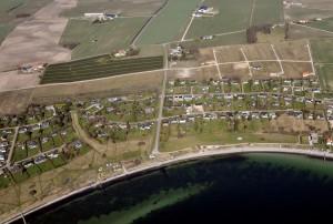 luftfoto fra syd